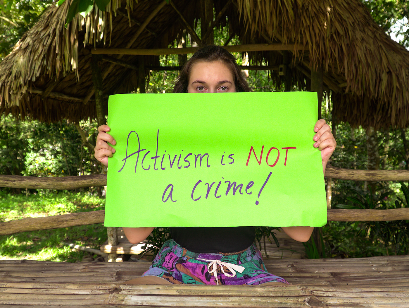 Activism is not a crime