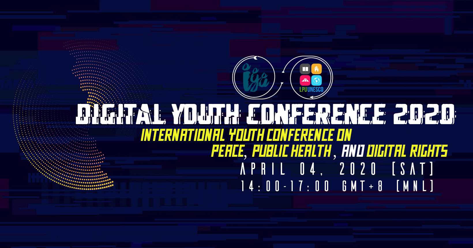 Banner of digital youth conference